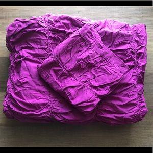 PB Teen Dorm Purple Twin Ruched Duvet Comforter